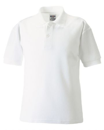 CANISBAY  PRIMARY SCHOOL WHITE POLO SHIRT WITH LOGO